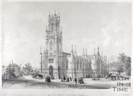 St. Stephen's Church, Bath, c.1842