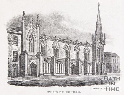 Trinity Church, James Street West, Bath, c.1823