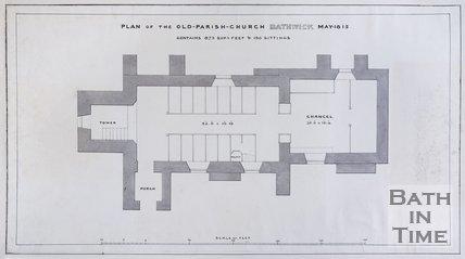 Plan of the Old-Parish-Church Bathwick, May 1815.