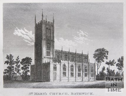St. Mary's Church, Bathwick, c.1821
