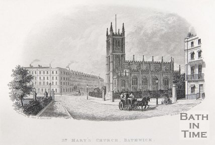 St. Mary's Church, Bathwick, c.1837