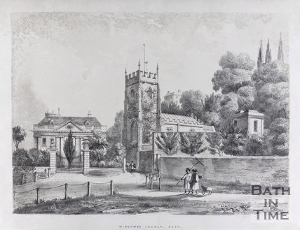 Widcombe Church, Bath, c.1837