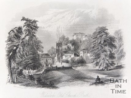 Widcombe Old Church, Bath, 1844