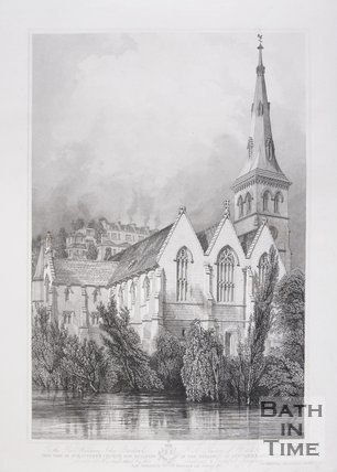 View of St. Matthew's Church now building in the parishes of Lyncombe and Widcombe, Bath, 1847