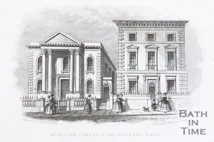 Moravian Chapel & Savings Bank, Charlotte Street, Bath, c.1845