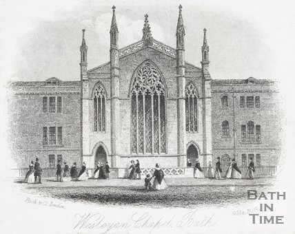 Wesleyan Chapel, New King Street, Bath, c.1850