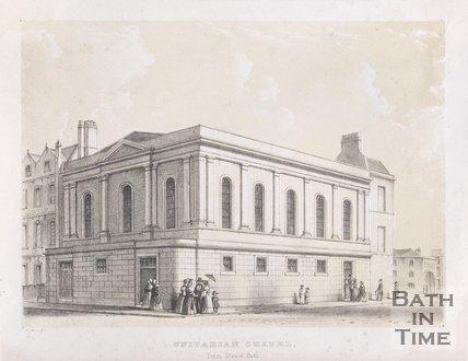 Unitarian Chapel, Trim Street, Bath, c.1840