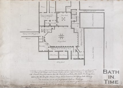 Plan of King's and Queen's Baths with the Adjacent Buildings as they now are, 1780's?