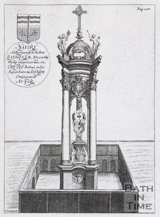 View of the Melfort Cross, Cross Bath, 1691