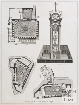 The Baths as they stood in 1676