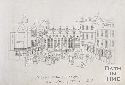 Exterior of the old Pump-Room Bath, 1737, c.1754