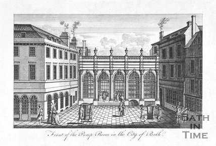 Front of the Pump Room in the City of Bath, c.1765