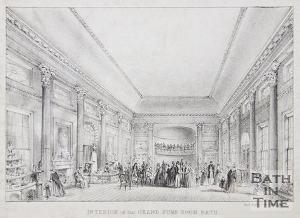Interior of the Grand Pump Room, Bath, 1843