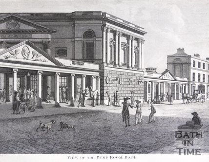 View of the Pump-Room, Bath, 1801