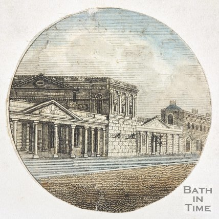 Colonnade and Pump Room, Bath viewed from Union Street, c.1801