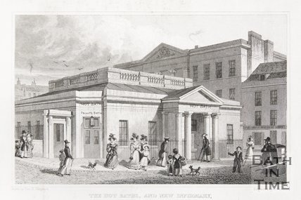 The Hot Baths, and New Infirmary, 1829