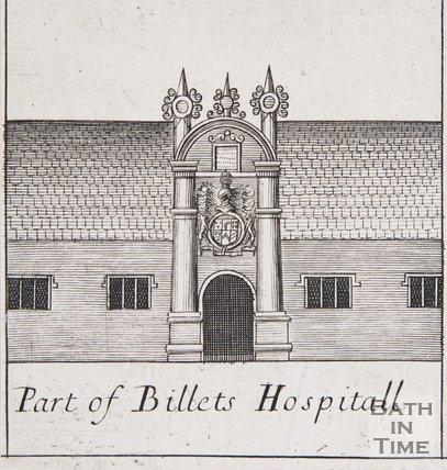 Part of Billets (Bellotts) Hospital, Bath, 1694
