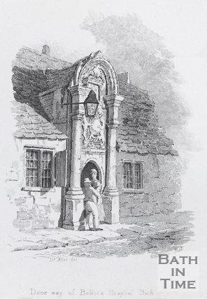 Door way of Bellott's Hospital, Bath, c.1824