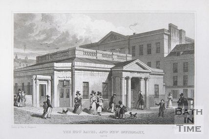 The Hot Baths, and New Infirmary, Bath, 1829
