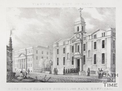 Blue Coat Charity School and Bath Hospital, c.1830