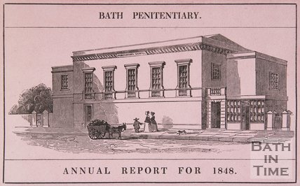 Bath Penitentiary (above image), Annual Report for 1848 (below image), 1848