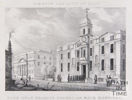 Blue Coat Charity School and Bath Hospital, c.1830
