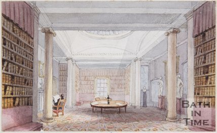 The Original Drawing of the Library of the Bath literary and Scientific Institute from which the plate was Engraved, Bath c.1847