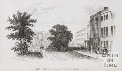 Grosvenor Place & Grosvenor College, Bath, c.1845