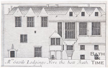 Mrs Savils Lodgings Nere the hott Bath, 1694