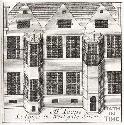 Ms Toops Lodgings in Westgate Street, Bath, 1694