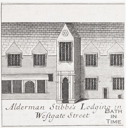 Alderman Stibbs's Lodging in Westgate Street, Bath, 1694