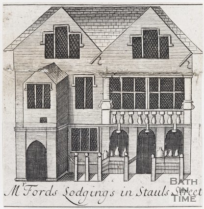 Mr Fords Lodgings in Stauls Street, Bath, 1694