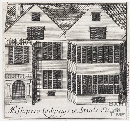 Mr Slopers Lodgings in Stauls Street, Bath, 1694