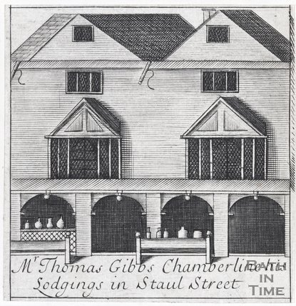 Mr Thomas Gibbs Chamberline his Lodgings in Staul Street, Bath, 1694