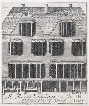 Mr Mores Lodgings in the Abbey Church Yard, Bath, 1694