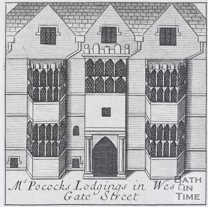 Ms Pocock's Lodgings in West Gate Street, Bath, 1694
