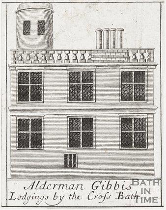Alderman Gibbis Lodgings by the Cross Bath, 1694