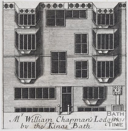 Mr William Chapman's Lodgings by the Kings Bath, 1694