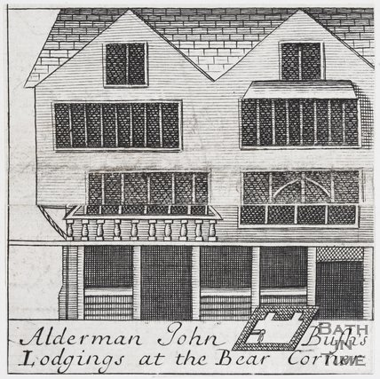 Alderman John Bush's Lodgings at the Bear Corner, Bath, 1694