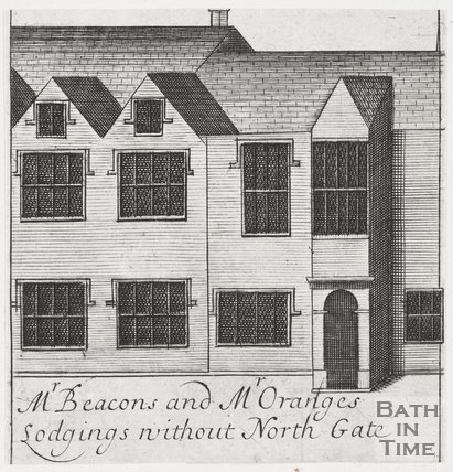 Mr Beacons and Mr Oranges Lodgings without North Gate, Bath, 1694