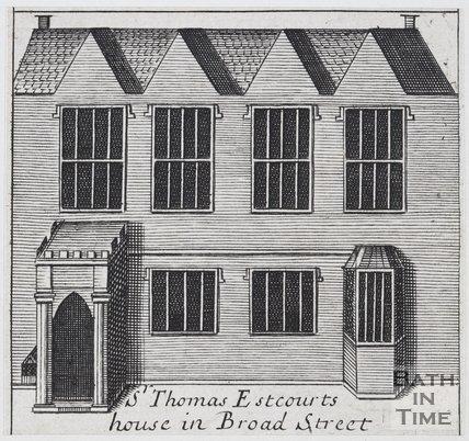 Sr Thomas Estcourts house in Broad Street, Bath, 1694