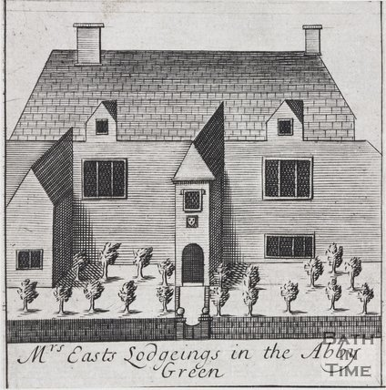 Mrs Easts Lodgings in the Abbey Green, Bath, 1694