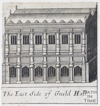 The East Side of Guild Hall, Bath, 1694