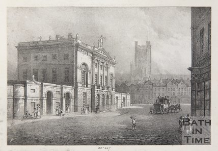 The Guildhall and Entrance to the Markets, Bath, 1828
