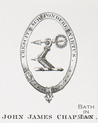 A bookplate of John James Chapman, date not known