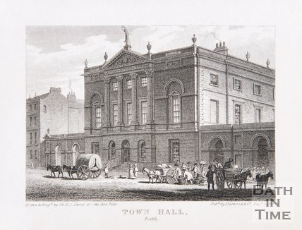 Town Hall, Bath (Guildhall), Bath, 1823