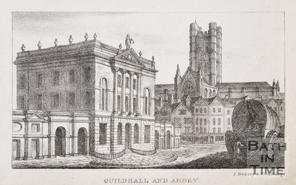 Guildhall and Abbey, Bath, 1823
