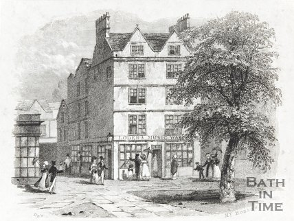 Andrew Loder's Music Warehouse, No 4 Orange Grove, Corner of Wade's Passage, Bath, c.1825