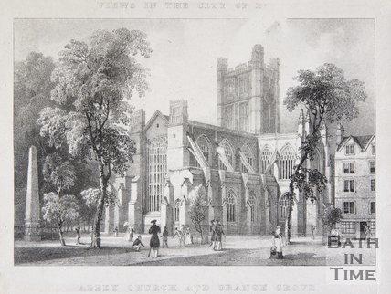 Abbey Church and Orange Grove, Bath, 1830
