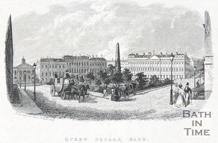Queen Square, Bath, c.1837